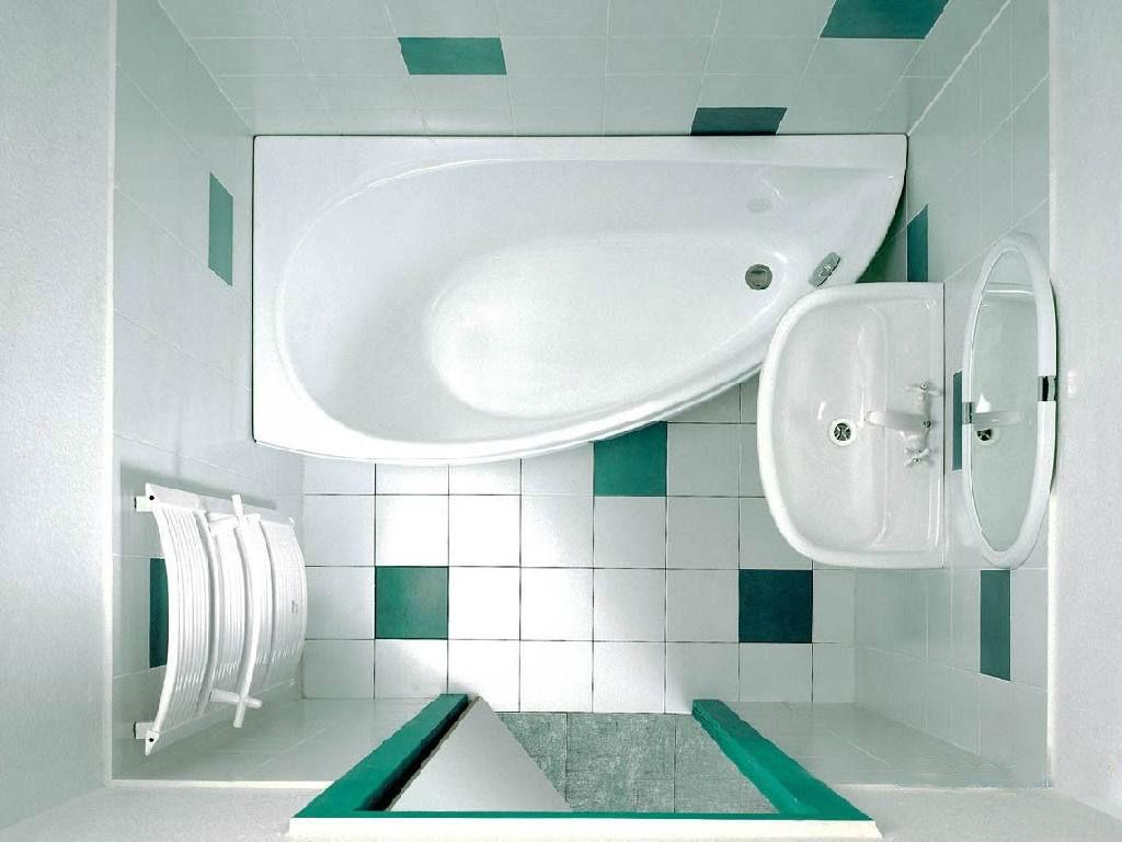 ванная вид сверху